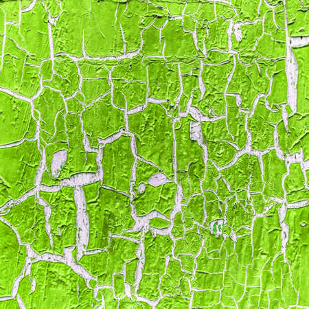 cracked paint on the concrete wall  photo