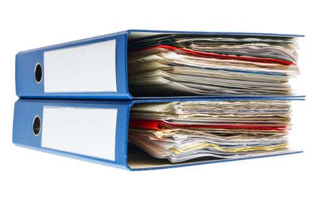 Stack of folders isolated on white background  photo