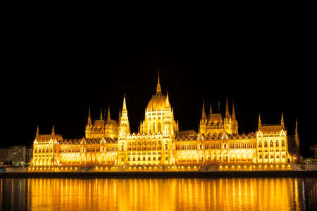 Parliament in Budapest, night view photo