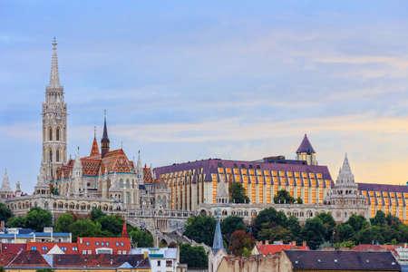 matthias: View with Matthias Church in Budapest, Hungary