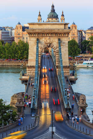 Chain Bridge in Budapest, Hungary photo