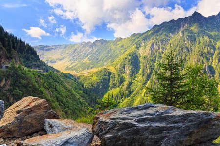 View of the Fagaras mountains in Romania
