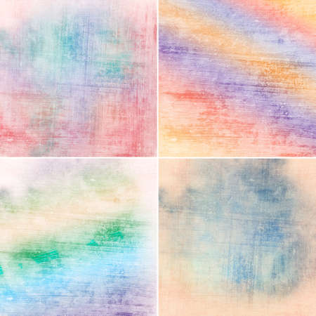 set of vintage colorful backgrounds photo