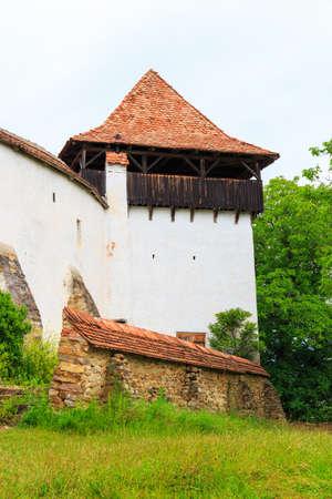 fortified: Viscri, saxon fortified church, Transylvania, Romania Stock Photo