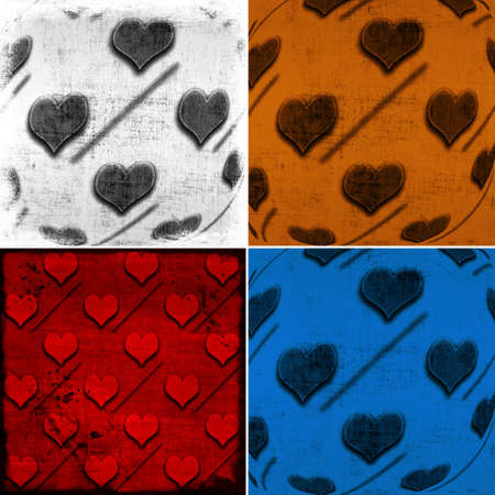 set of backgrounds with hearts photo