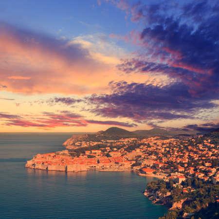Old town of Dubrovnik, Croatia, vintage look photo