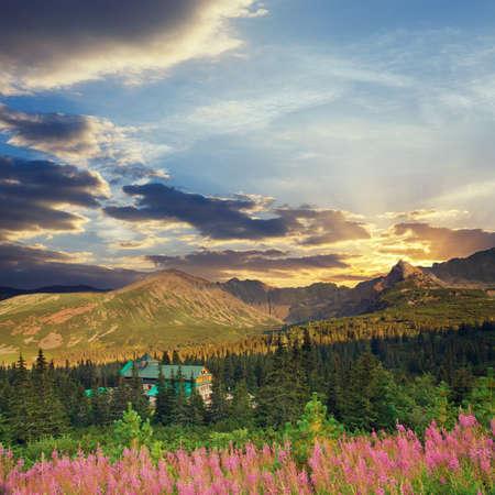 Tatra Mountains, vintage look