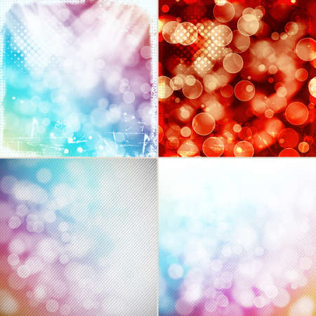 set of colorful bokeh backgrounds photo