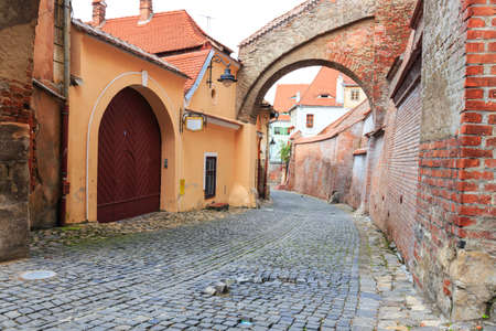 Old Town in the historical center of Sibiu, Romania photo