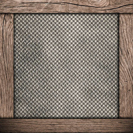 checkered background: wood frame with checkered background Stock Photo