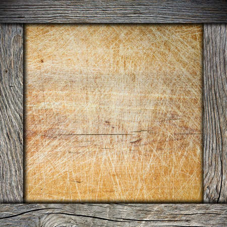 wood frame with cutting board photo