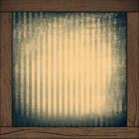 paper with stripe pattern and wood frame photo