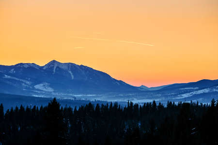 Winter landscape of High Tatra Mountains, Poland photo