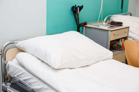 nursing unit: empty hospital room
