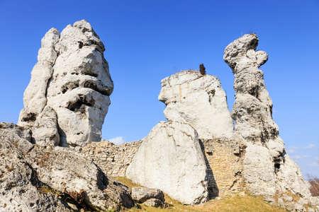 jura: jurassic limestone rocks - Polish Jura, Poland Stock Photo
