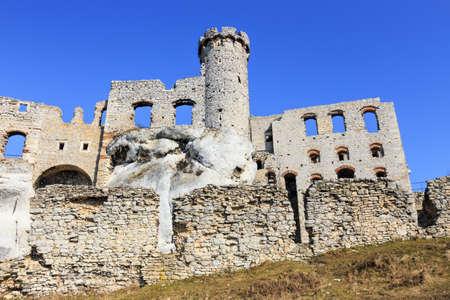 ogrodzieniec: Ogrodzieniec Castle, Poland. Stock Photo