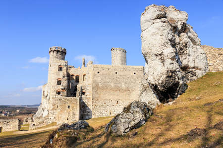 broken hill: Ogrodzieniec Castle, Poland. Stock Photo