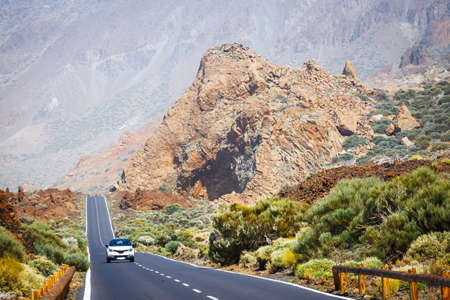 speedway park: Highland highway in Tenerife, Canary Island, Spain