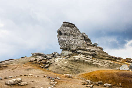 The Sphinx - Geomorphologic rocky structures in Bucegi Mountains, Romania Stock Photo
