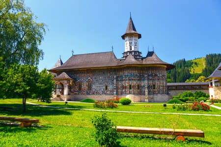 The Sucevita Monastery is a Romanian Orthodox monastery situated in the commune of Sucevita, Suceava County, Moldavia, Romania Stock Photo - 49580435