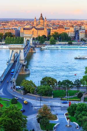 hungary: Chain Bridge, Budapest, Hungary