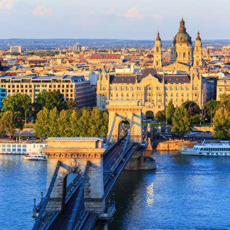 チェーン ブリッジ, ブダペスト, ハンガリー 写真素材