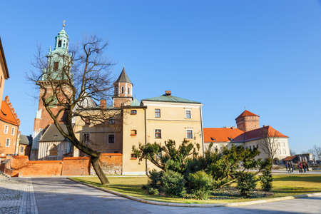 december 31: Krakow, Poland - December 31, 2015: Wawel castle and cathedral in Krakow, Poland Editorial