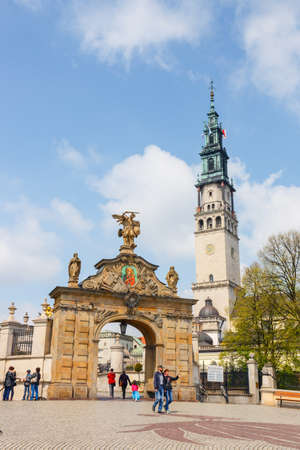 the place is important: Czestochowa, Poland, 29 April 2015: Jasna Gora sanctuary in Czestochowa, Poland. Very important and most popular pilgrimary place in Poland