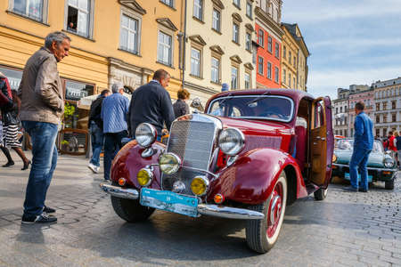mercedes: KRAKOW, POLAND - MAY 15, 2015: Classic Mercedes on the rally of vintage cars in Krakow, Poland Editorial