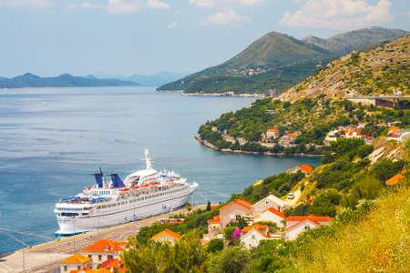 Dubrovnik, Croatia, JULY 02, 2010: Big Cruising ship Orient Queen in Croatian town Dubrovnik Redakční