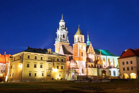 wawel: Wawel Castle in the evening in Krakow, Poland Editorial