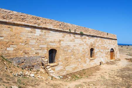 fortezza: Venetian ruin fortress Fortezza in Rethymno on Crete, Greece
