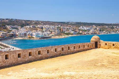 rethymno: Venetian ruin fortress Fortezza in Rethymno on Crete, Greece