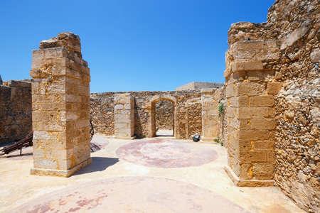 fortezza: Venetian fortress Fortezza in Rethymno on Crete, Greece