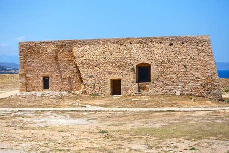rethymno: Venetian fortress Fortezza in Rethymno on Crete, Greece