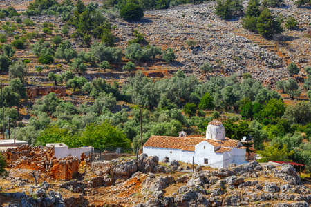 george: Church of Archangel Michael over Aradena George in Aradena, Crete