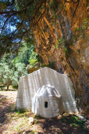 displaced village Samaria in Samaria Gorge in central Crete, Greece Stock Photo