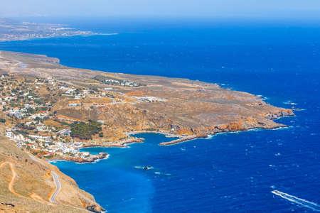 chora: Chora Sfakion town on Crete, Greece Stock Photo
