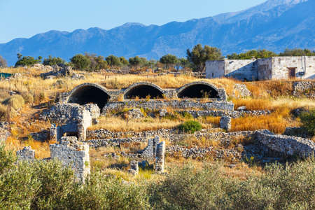 archeological: Ancient Aptera on Crete island. Greece