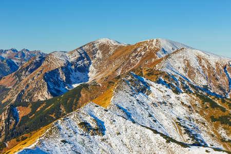 autumn mountain landscape, Red Peaks, Tatras Mountain Stock Photo