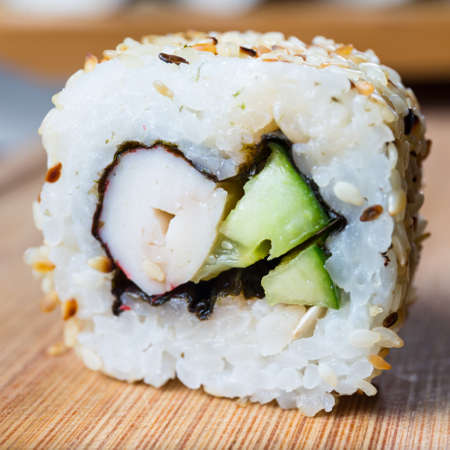 exotically: Japanese seafood sushi