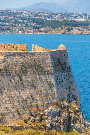 rethymno: Venetian fortress Fortezza in Rethymno, Greece