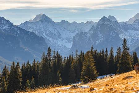 giewont: autumn landscape, Tatra mountains, Poland Stock Photo