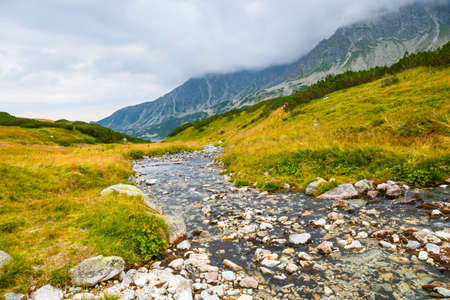 frightful: autumn landscape, Tatra mountains, Poland Stock Photo