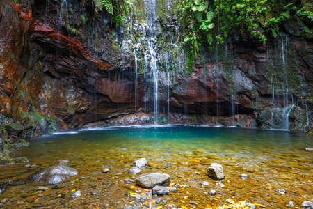 Waterfall Levada das 25 fontes, Madeira Island, Portugal