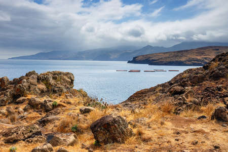 terrain: Ponta de Sao Lourenco. Cape is the most eastern point of Madeira island