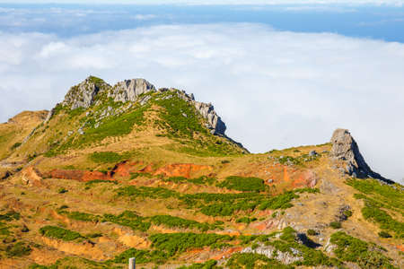 mountains above the clouds, Madeira Island, Portugal