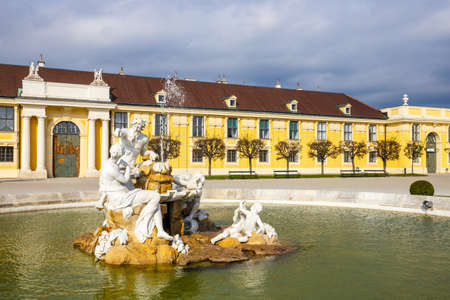 gloriette: Schonbrunn Palace in Vienna, former imperial summer residence, Austria
