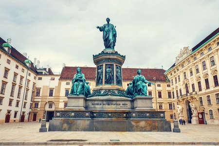 franz: Monument to Emperor Franz I of Austria in the Hofburg palace in Vienna, Austria