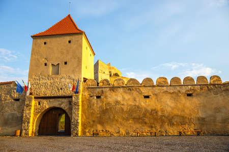 brasov: Rupea Castle near Brasov, medieval fortress in Romania